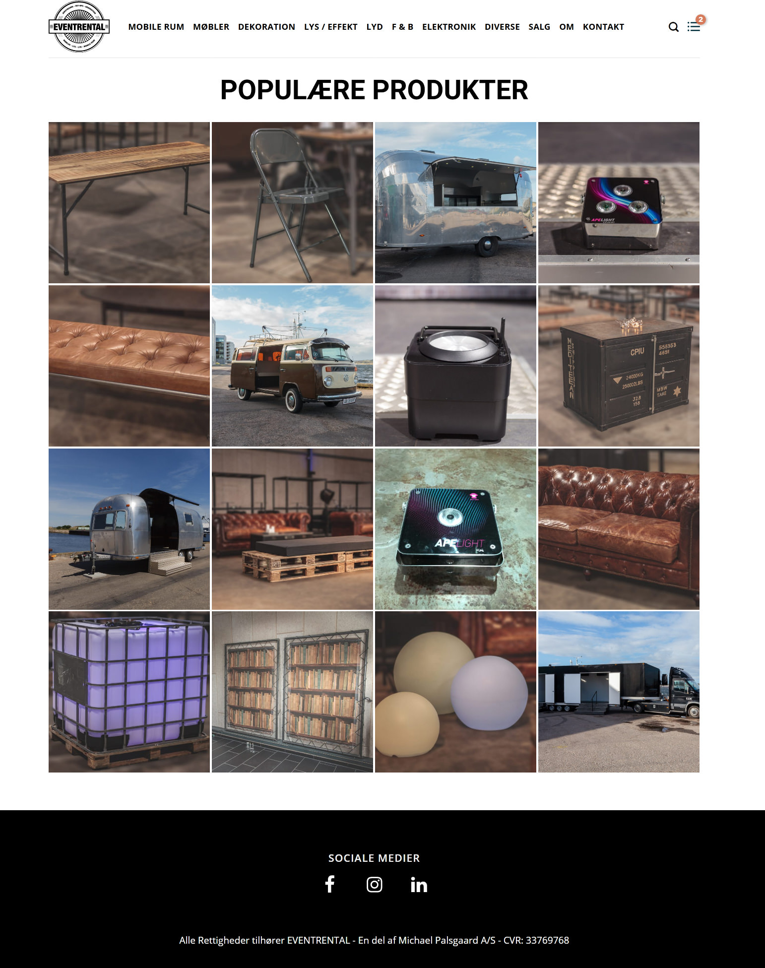 Screenshot 2019 12 29 Populære produkter Eventrental - Michael Palsgaard